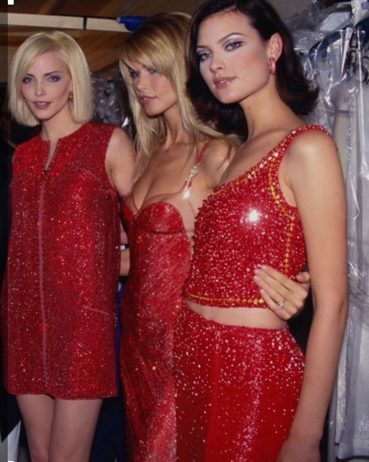 Versace 1995 - Nadja Auermann, Claudia Schiffer and Shalom Harlow