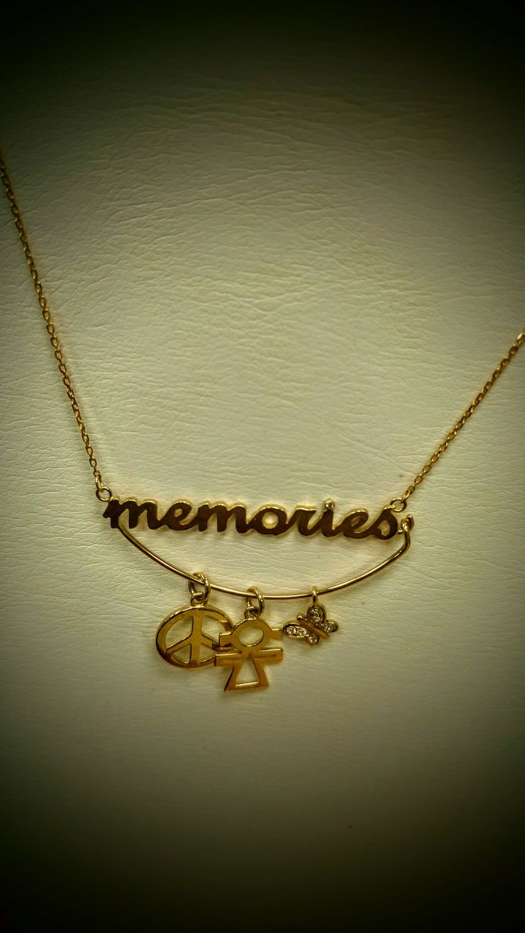 gold necklace memories you can have your best memories with you!