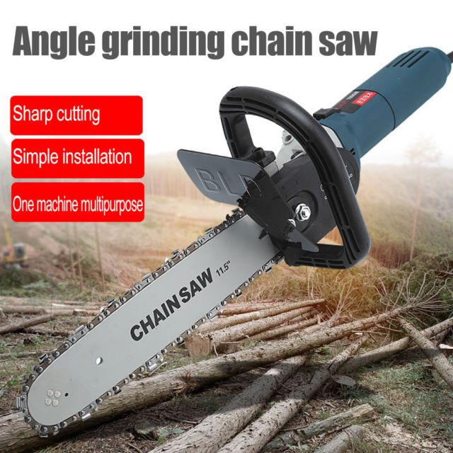 Angle Grinder To Electric Chain Saw Complete Head Conversion Tools Kit 1100w Pgs Chainsaw Conversion Tool Angle Grinder