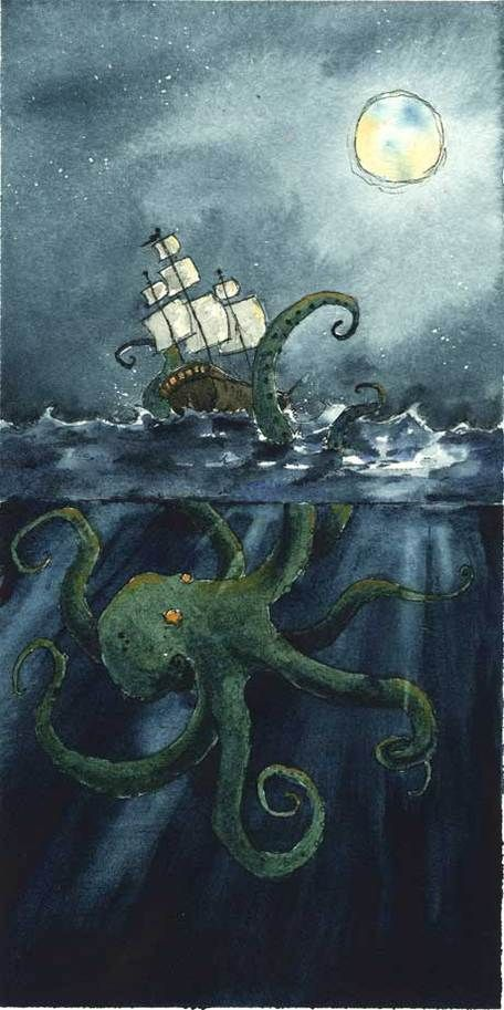 Octopus Shipwreck Drawing 80 best scary m...