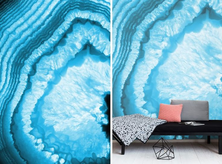 Geode Pattern Home Design And Accent Walls