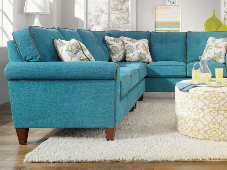 The aquamarine Laurel sectional is a gem!
