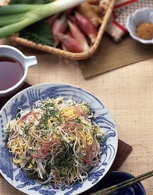 錦糸卵と香味野菜のからめ冷やむぎ | 千葉道子さんのレシピ【オレンジ ...