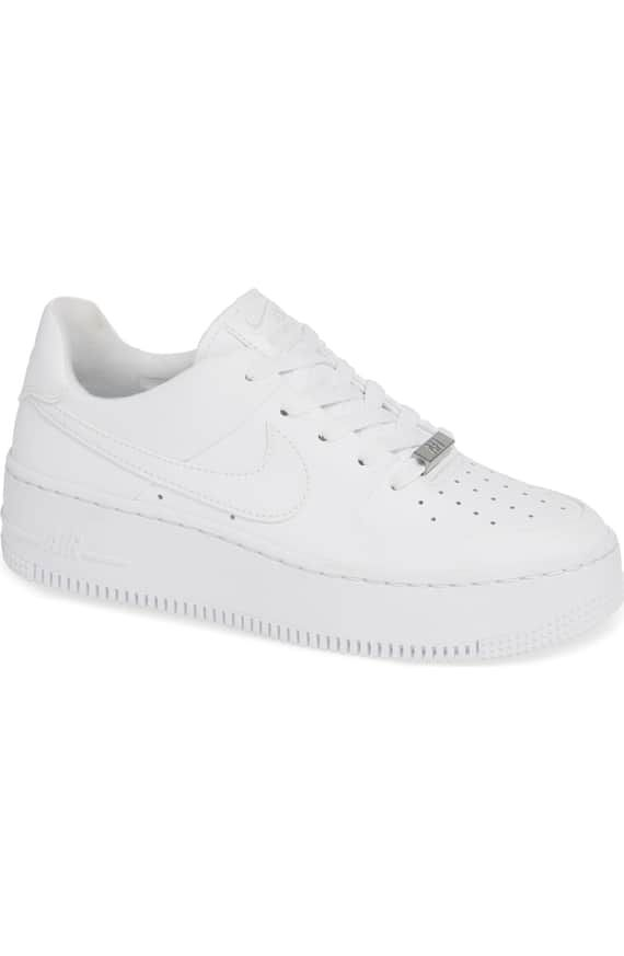 new product 2ebdb 58d22 Nike Air force 1 Sage Low Platform in white Size 8