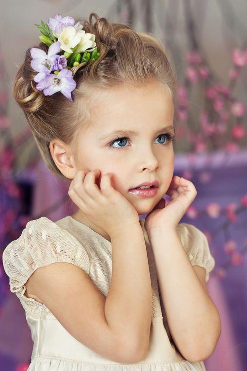 Flowers in her hair: