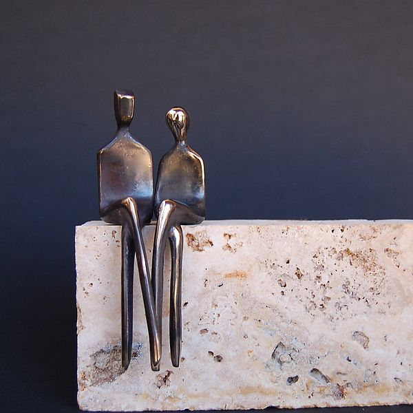 The Two of Us by Yenny Cocq: Bronze Sculpture available at www.artfulhome.com