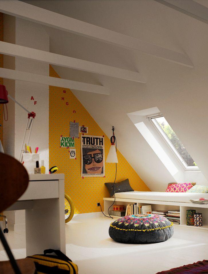 Cute Ideas For A Kids Room Under The Roof Paul Paula Attic Rooms Attic Renovation Attic Bedroom