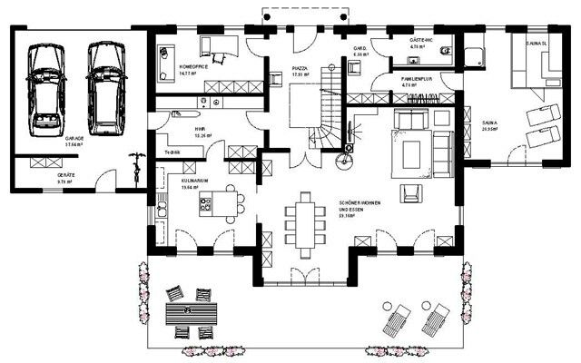 480 best images about bauen h user grundrisse on pinterest for Haus plan