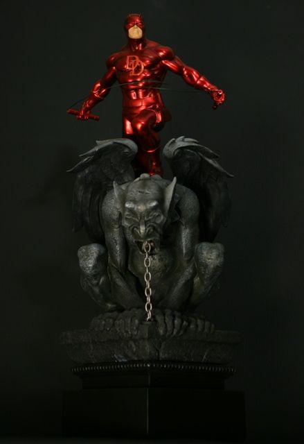 Daredevil Red statue  Sculpted by: Randy Bowen with Troy McDevitt    Release Date: August 2009  Edition Size: 1500  Order Of Release: Phase IV (statue #166)