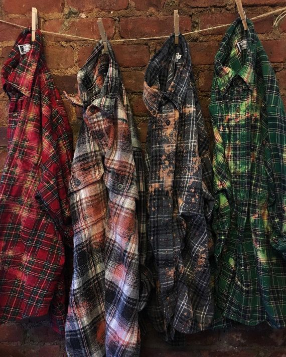 0a9325d1cda These custom worn-in vintage flannels are hand distressed! This is a wholesale  bulk order listing. Please choose the number on the side dr…