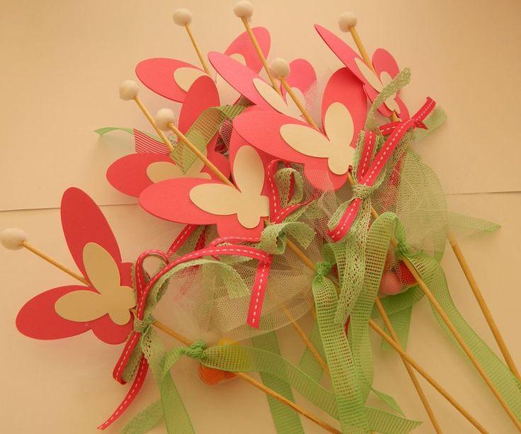 Παιδικές μπομπονιέρες πεταλούδες