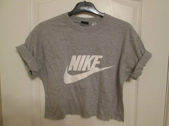 Vintage classic Nike crop top retro rave festival by MyTyeDie