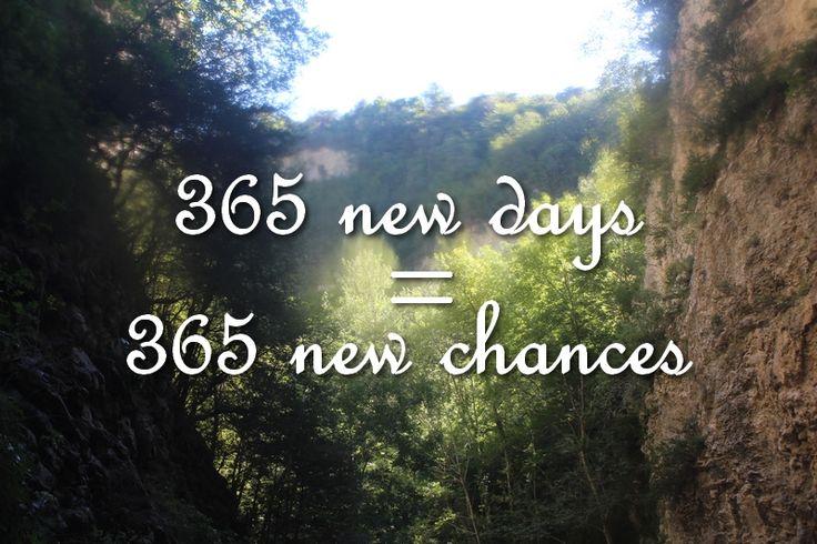 Goede-voornemens-2015 365 new days = 365 new chances