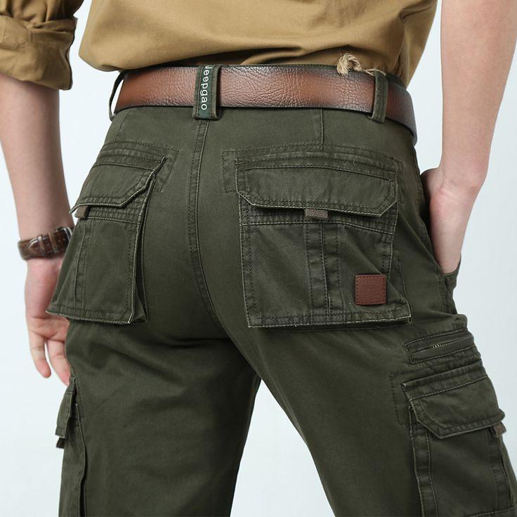 Размер 30 - 42 военная 2014 армия мешковатые штаны камуфляж на открытом воздухе мужские хаки брюки-карго мужской спорт бегунов нескольких карман брюк