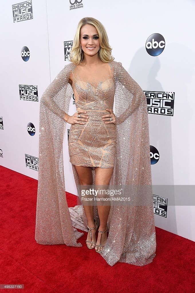 Singer Carrie Underwood attends the 2015 American Music Awards at Microsoft Theater on November 22, 2015 in Los Angeles, California.  (Photo by Frazer Harrison/AMA2015/Getty Images for dcp)