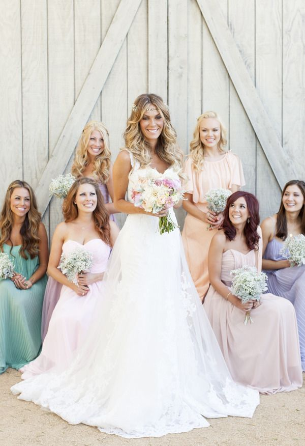Love that the bride is standing center & it's not the usual group standing photo