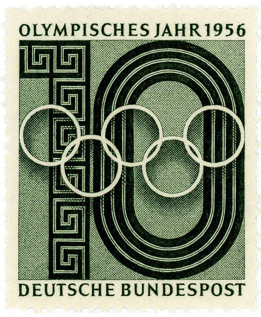 Germany stamp: Olympic Year 1956 by karen horton, via Flickr