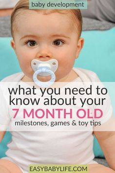 The curious little 7-month-old. Here's a great guide to 7-month-old baby development milestones, tips on games to play and toy tips for 7-month-old babies. 7-month-old baby activities, things to do with a 7-month-old baby, 7-month-old baby tips. #baby