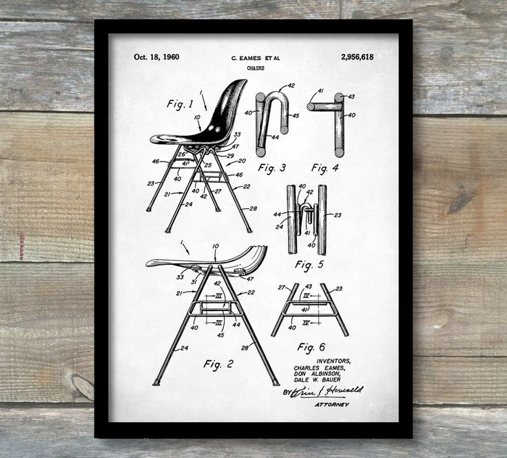 Eames Patent, Eames Chair Patent Poster, Eames Chair, Charles Eames, Charles and Ray Eames, Eames Art, Mid Century Furniture Wall Art, P209 by NeueStudioArtPrints on Etsy