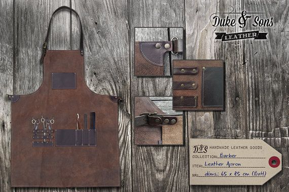 Handmade leather Barber Apron