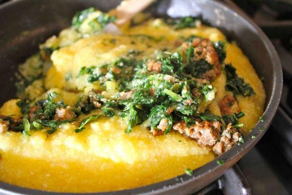 Breakfast Polenta-great idea to use up the polenta i have