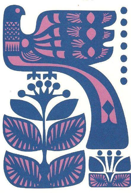 All sizes / Marimekko, Blue Bird by Sanna Annukka / Flickr - Photo Sharing! on imgfave