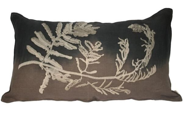 Fern Embroidery 1 Gyrosorium in Taupe