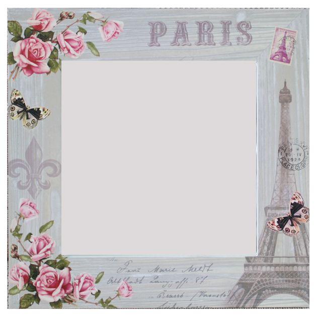 Καθρέφτης τετράγωνος Παρίσι  Τιμή: €18,50 http://www.lovedeco.gr/p.Kathreftis-tetragonos-Parisi.785795.html