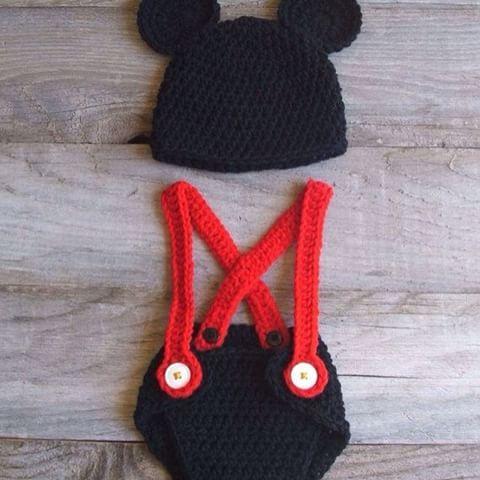 Conjunto de Mickey parà Los principes de la casa #crochet #conjuntos #mickey #cute #crochet #tejido #piccolina #ninas #bebe #ventas #regalo  #ideal  #hermoso #cute #sancristobal #tachira #venezuela #headband #cintillos #lazos  #bow  #chic
