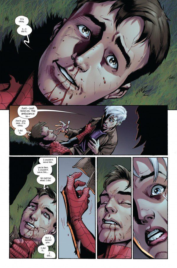 The Final Moments of Peter Parker in THE DEATH OF ULTIMATE SPIDER-MAN