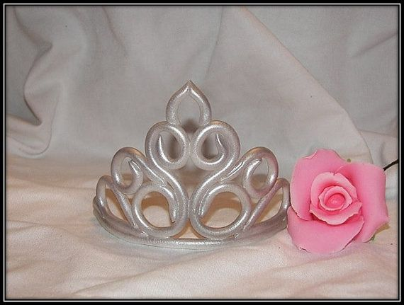 Fondant Princess Tiara Crown by ATasteofFinesse on Etsy, $38.00