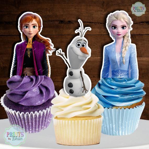 Disney Frozen 2 Cupcake Toppers Disney Frozen 2 Cake Pop Toppers