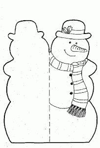 коледна картичка за принтиране Free Printable Christmas