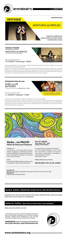 JUNHO | aventuras de papelão | FESTA NOVE LUAS | verão... no palco!