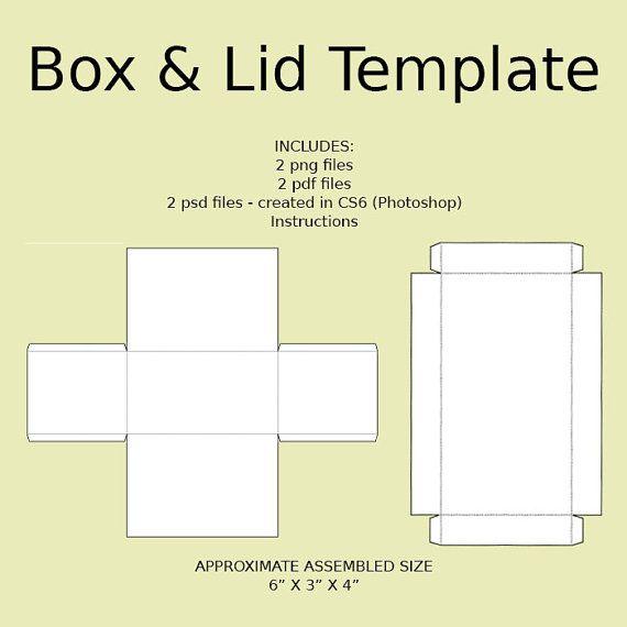 digital rectangle box amp lid templates download png