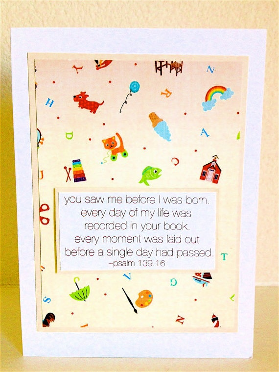 BABY Congratulations CARD  Bible Quote Toys by BlackSheepBetsy, $3.00
