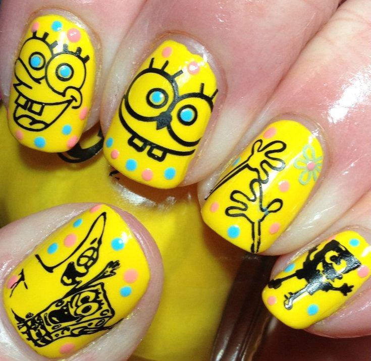 Spongebob nails