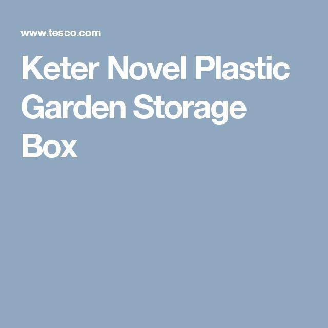Keter Novel Plastic Garden Storage Box