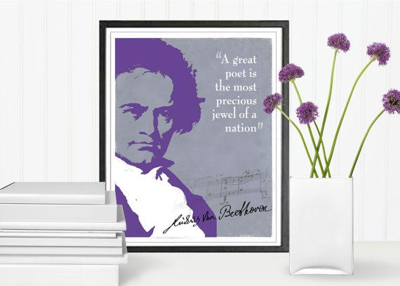 Beethoven Quote Quote Print Music Quotes Composers by LooveMyArt