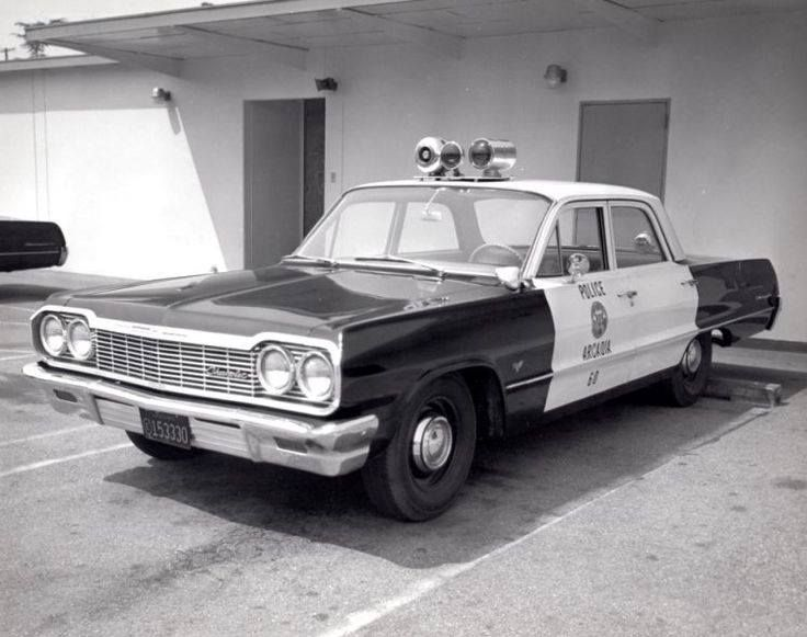 Arcadia ca pd 1964 chevy antique police vehicles