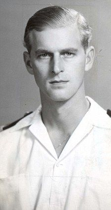 Prince Philip in 1947 when he was Lieutenant Philip Mountbatten. How could she not fall for him....:)