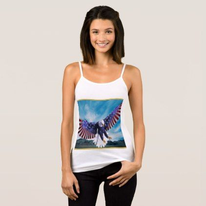 American flag Eagle flying in the sky gold foil Tank Top - foil leaf gift idea special template