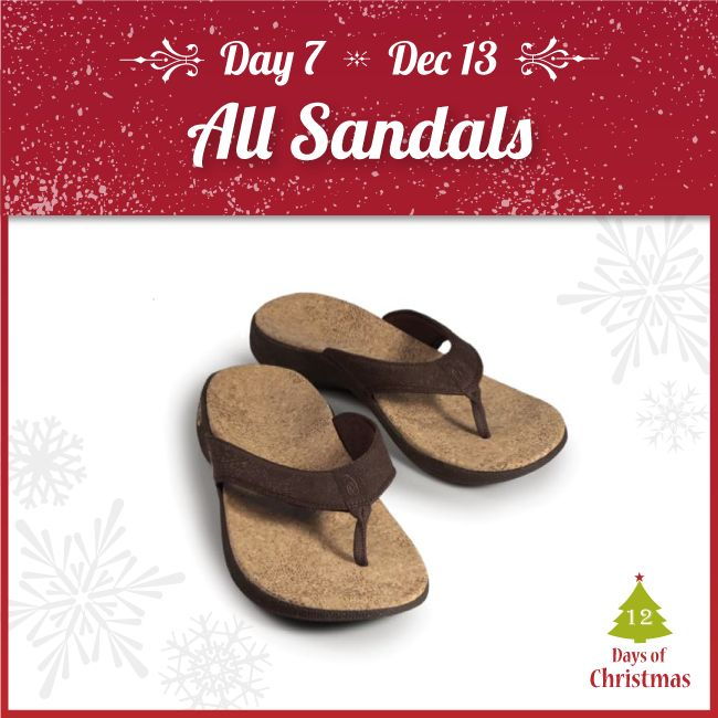 Going somewhere warm this holiday season?  For TODAY ONLY @ 25% OFF, we have the perfect sandals for promenading along the pleasant beach sand!  Come by our stores, or grab them online: http://kint.ec/Day7Sandals  USE CODE: XMAS7