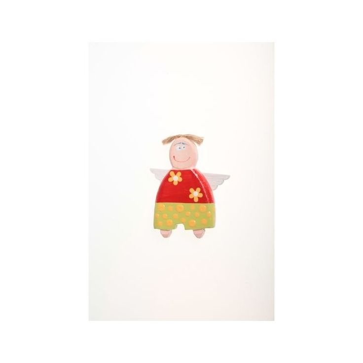 Handmade Wooden Angel-Boy Magnet – 6 cmHandmade Wooden Angel-Boy Magnet – 6 cm