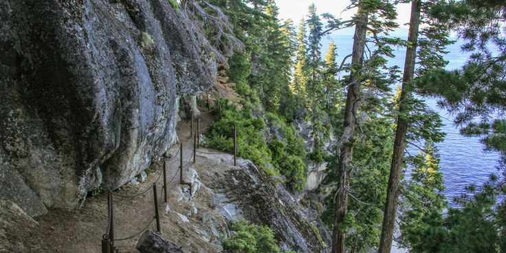 Rubicon Trail on Tahoe's southwest shore. Not to be confused with the 22-mile long, four-wheel drive route west of the lake, this lakeside foot trail is 6.5 miles long and connects two of Tahoe's premier state parks, D.L. Bliss and Emerald Bay.