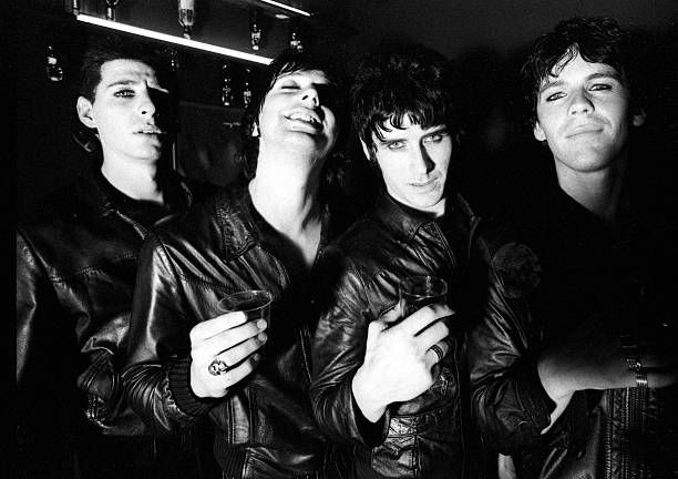 Group portrait of British rock band These Animal Men United Kingdom 1996 LR Steve Hussey Hooligan Alexander Boag Patrick Murray