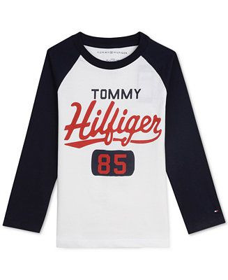 7547d9708 Shop Tommy Hilfiger Big Boys Raglan Graphic Shirt online at Macys.com. Brand  names are back in a big way and he ll look cute and sporty in this  all-cotton ...