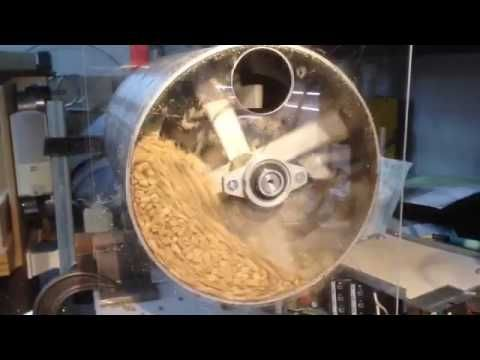 DIY Testing drum coffee roaster with junk beans - YouTube