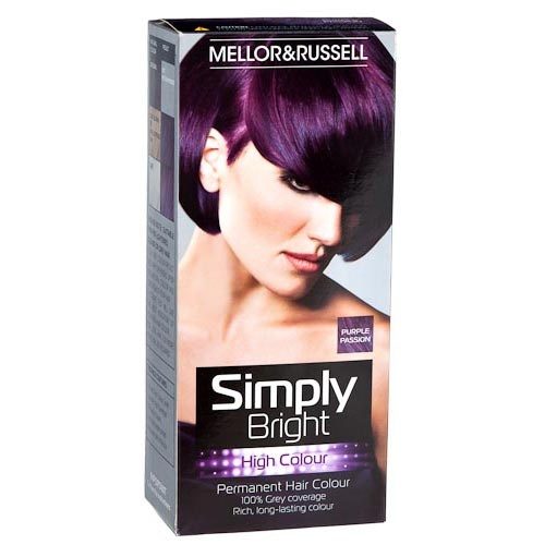 Simply Bright Hair Colour - Purple Passion | PoundlandHair Colours, Hair Dyes, Red Alert, Hair Makeup, Bright Hair, Bright Red, Diy Purple Hair Dye, Permanent Hair, Simply Bright