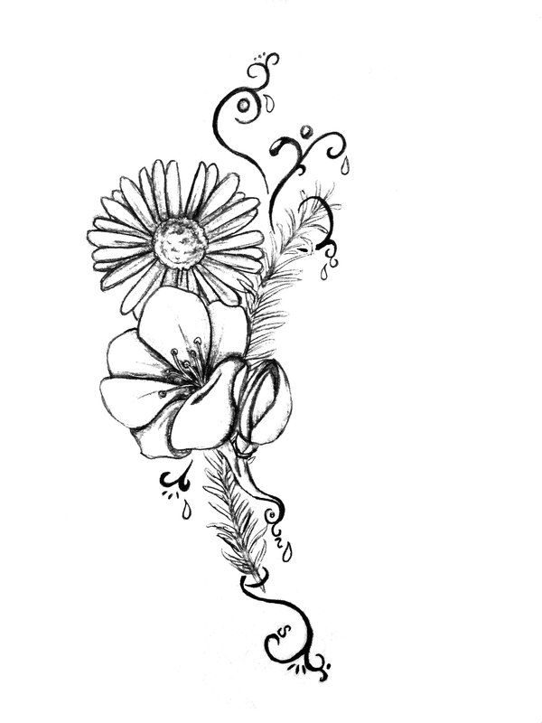 Black And White Daisy Flowers Tattoo Design Daisy Tattoo Designs Lilac Tattoo Lace Flower